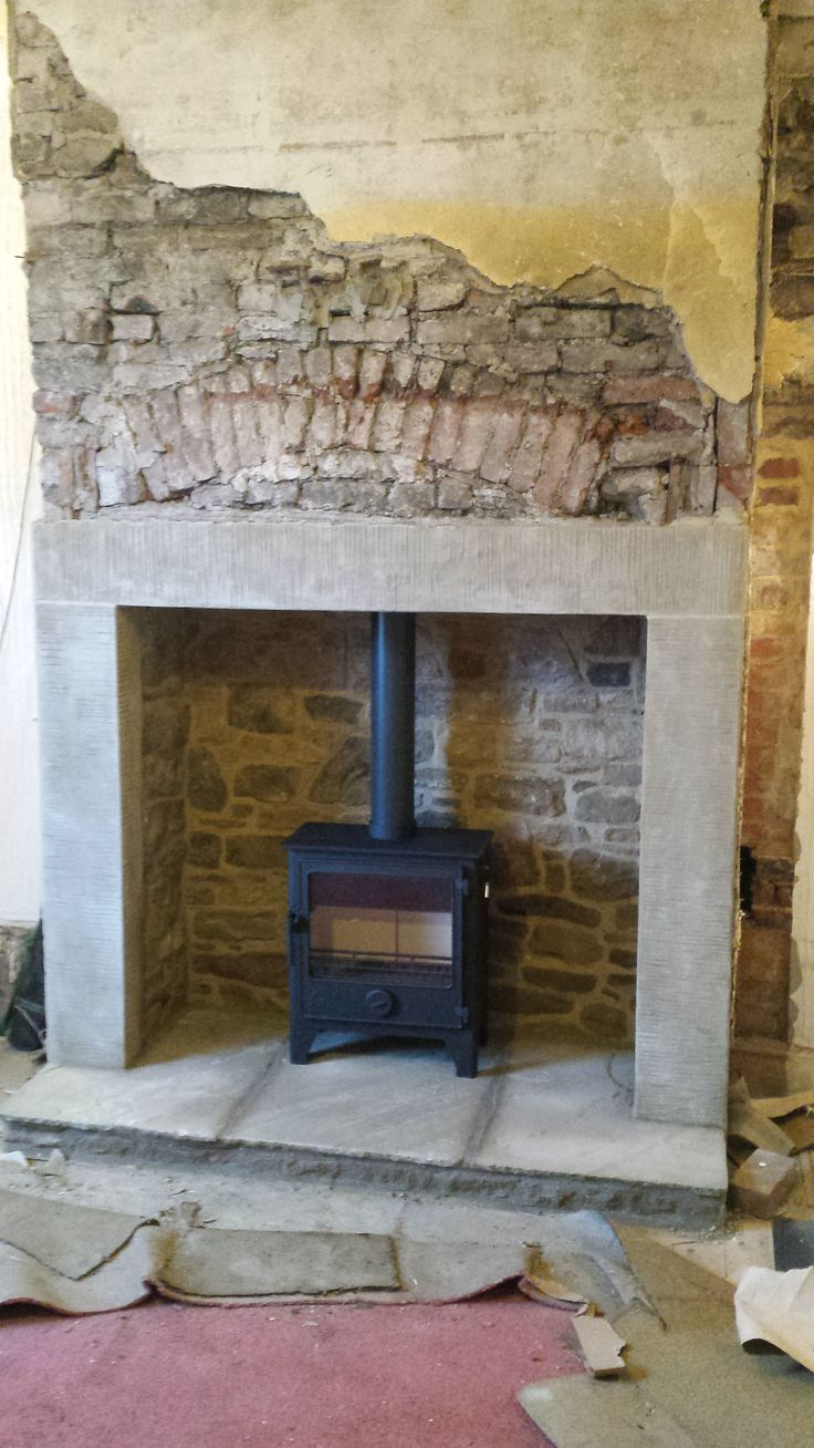 Dean Stoves Dartmoor W5 installed in Whickham #stoves #woodburningstove #woodburning #stove #heaton #black #stone #interiors