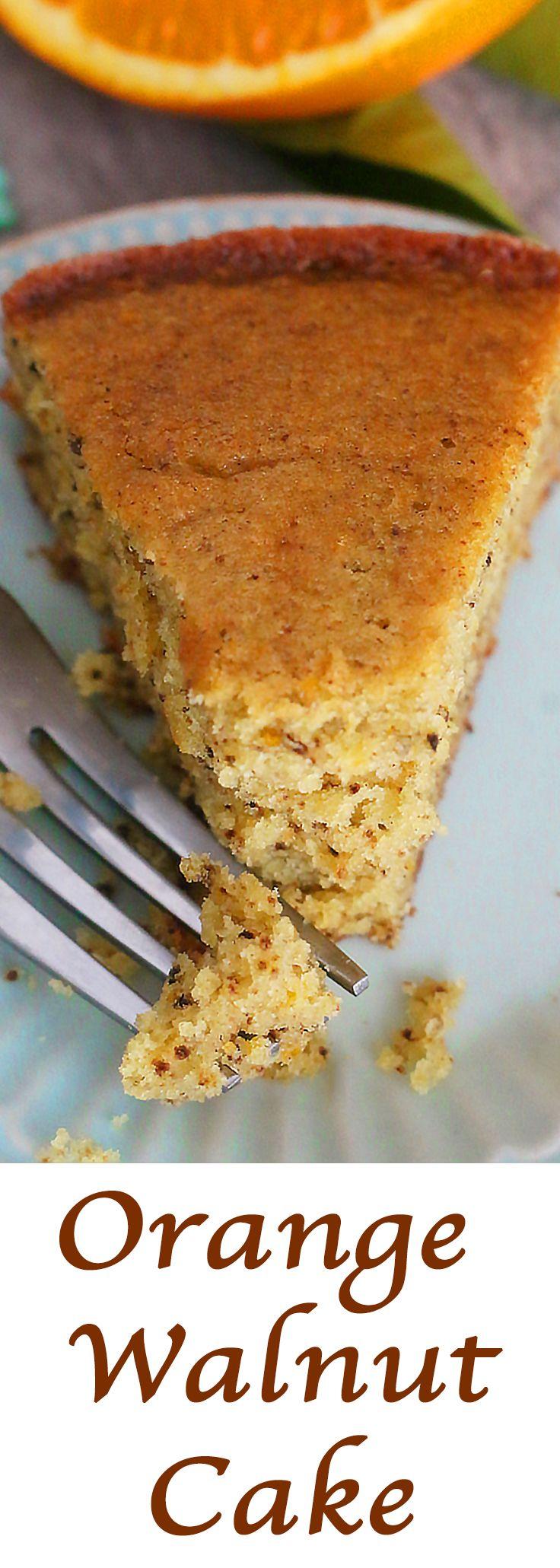 Orange Walnut Cake. #citrus #desserts