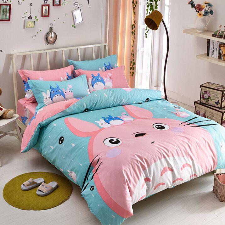Cute Totoro Students Bed Sheet Set