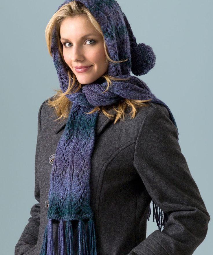 Free Knit Scoodie Pattern : 10 Best images about Knit?Scoodies on Pinterest Hooded scarf pattern, Yarns...