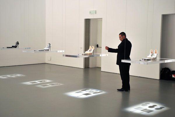 Calvin Klein's fashion exhibition