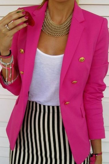 1000 Ideas About Hot Pink Blazers On Pinterest Pink