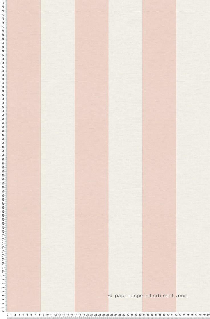 larges rayures roses et blanches papier peint oilily atelier - Papier Peint Et Peinture Dans La Meme Piece