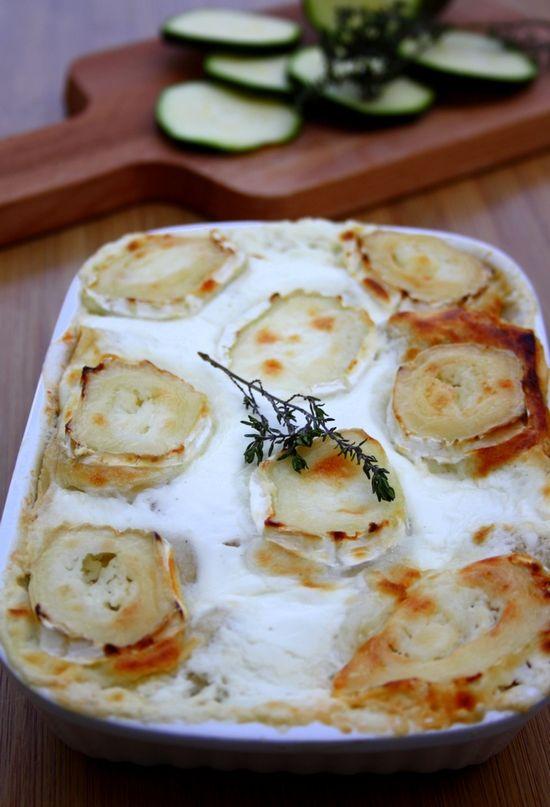 Lasagnes au fromage de chèvre et courgettes. #lasagne #pâte #gratin #courgette #fromage #chèvre #recette