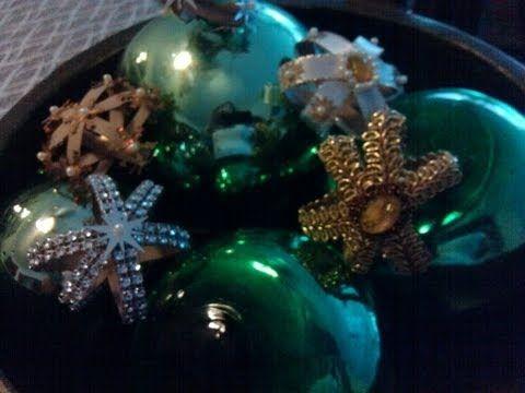 DIY Estrellitas de navidad con rollos de papel del baño- Christmas Ornaments