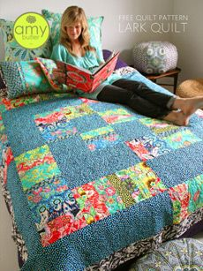 Free patterns from Amy Butler design - just one example of many very cool quilt patterns available