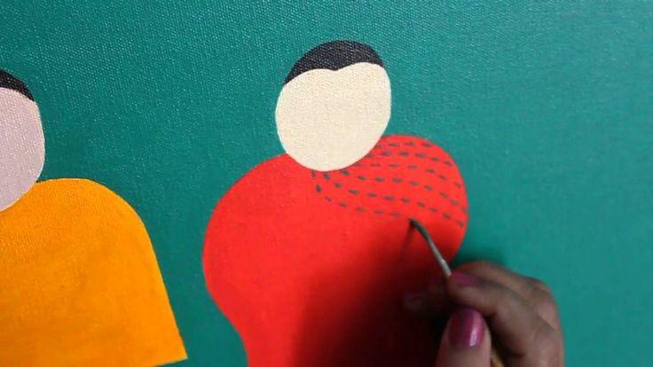 #IndianArtist Hemavathy Guha at work #OilOnCanvas #figurativeArt #Indianart #IndianPaintings