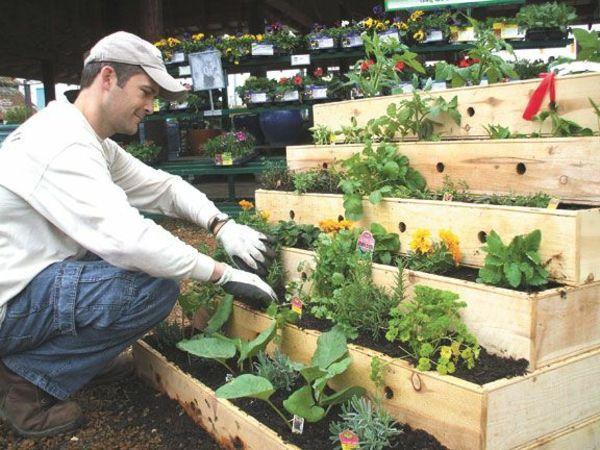 Krauterhochbeet Selber Bauen Um Frische Krauter Greifbar Nah Zu Haben Mit Bildern Urban Garden Design Gartenliege Abgestufter Garten