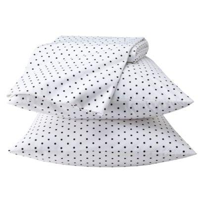 polka dot sheetsnavy blue with large white polka dots