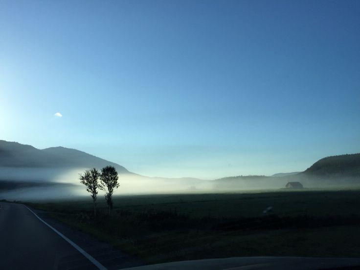 August morning in Hemsedal Norway