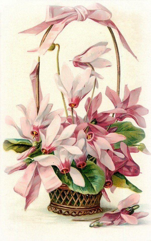 Ангел дети, открытки с цветами ретро