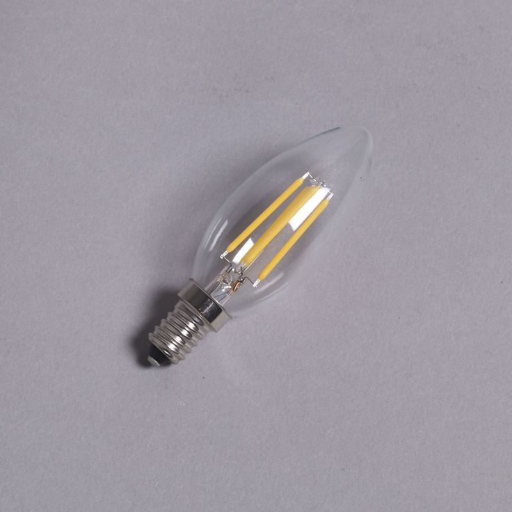 LED Filament Candle Bulb, E14, Replacement for incandescent/halogen lamps