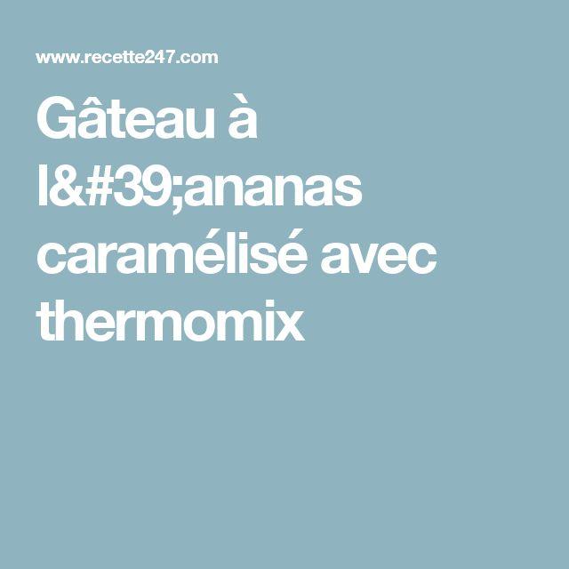 Gateau a l'ananas et noix de coco thermomix