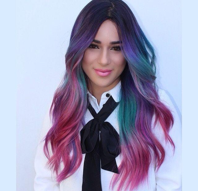 #multicolorhair #lusciouscurls