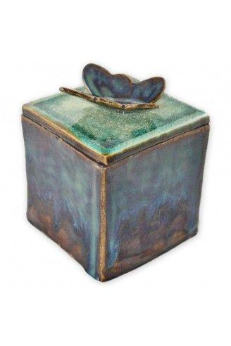 Gia Ceramic Box Keepsake Urn