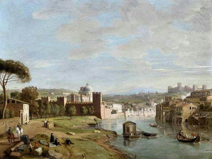 #Veronadipinta Gaspar Von Wittel 1653-1736 ....prima del ponte Gato c'era il traghetto...