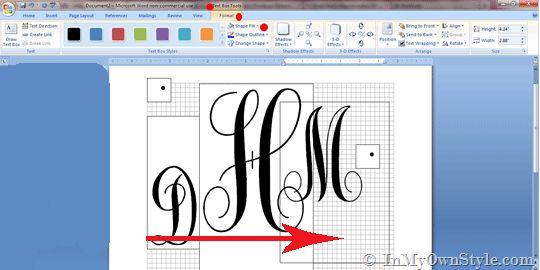 Monograms in Microsoft Word