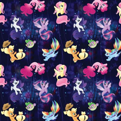 Equestria Daily - MLP Stuff!: More MLP Movie Fabrics, This Time with Sea Ponies!