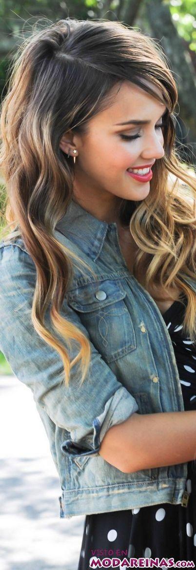 peinado sencillo con melena ondulada