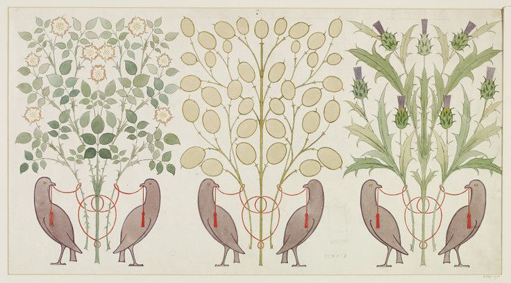 Wallpaper frieze design | Voysey | V&A Search the Collections