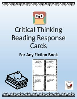 List of critical thinking questions for reading