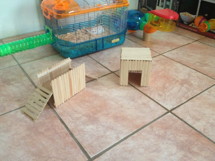 Diy hamster popsicle sticks my hamster diy projects for Hamster bin cage tutorial