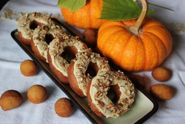 Flash Back Friday ~ Frosted Pumpkin Donuts