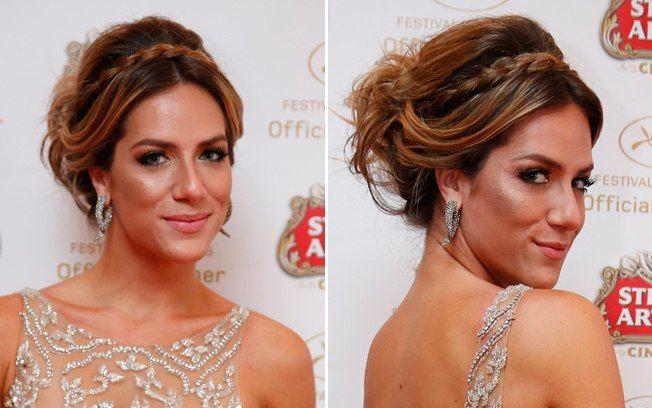 A atriz Giovana Ewbank usou o penteado milkmaid em uma versão mais sofisticada. Foto: AgNews