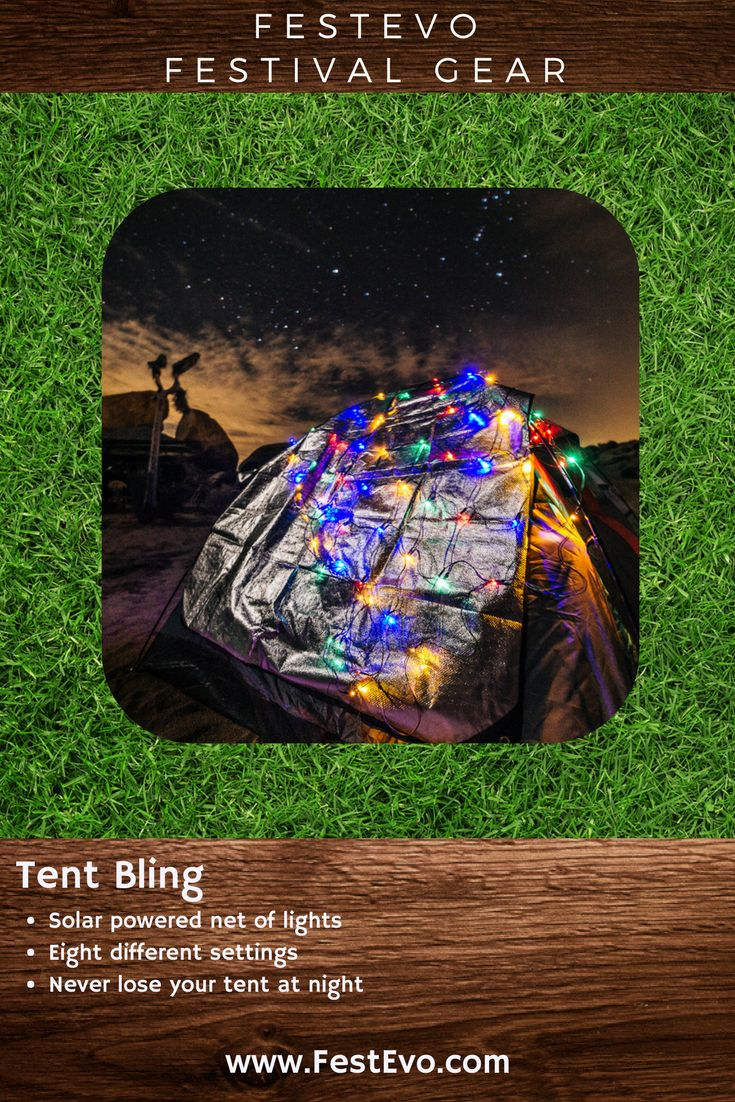 FestEvo Festival Gear - Tent Bling - A party on your tent that stands out and helps you #FestivalBetter