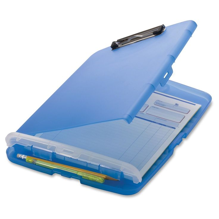 Slim clipboard offers handy, portable storage for your files and writing instruments. Compact design easily fits in most briefcases or backpacks for quick transportation. Low-profile metal clip featur