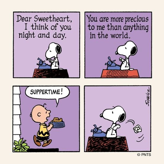A Love Letter From Snoopy. Aline