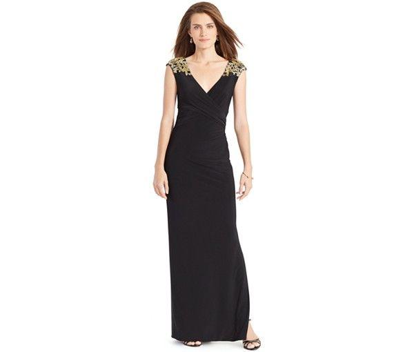 Lauren Ralph Lauren Beaded Gown - Mother of the Bride - Women - Macy's