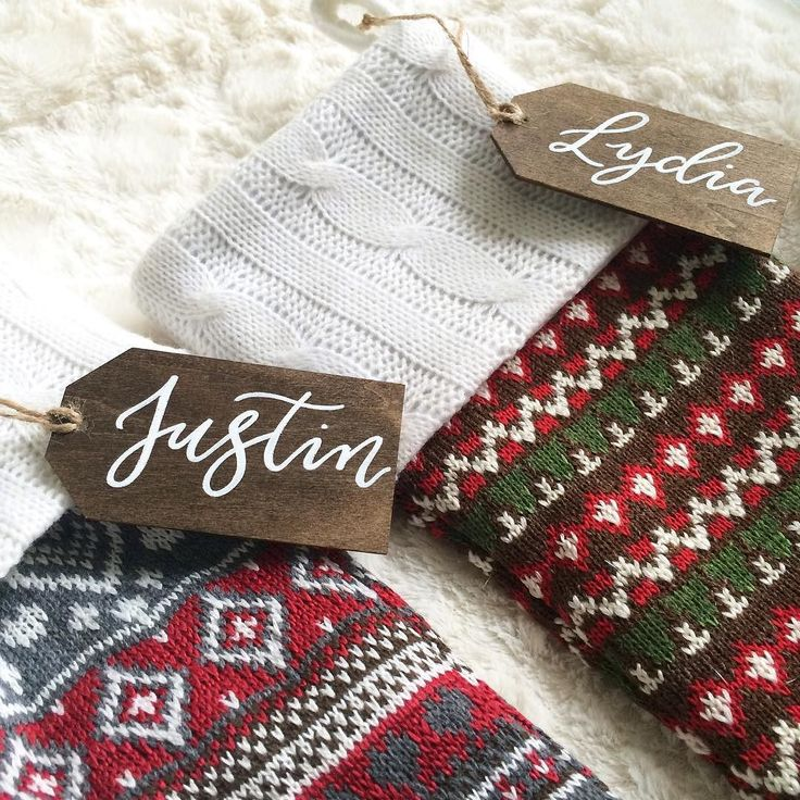 Happy #smallbusinesssaturday! I'm so very thankful for all of you and my customers in supporting this passion of mine. You make what I do possible!  I just rolled out a new product and today only you can get 20% off on these hand lettered Christmas stocking name tags. They are made of wood veneer and can be reused year after year! Use the code SMALLBIZSAT on the checkout page! Link to purchase in bio.