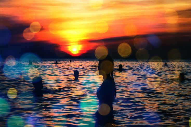 Title In The Water Artist Digital Art Cafe Medium Digital Art – Art From Photographs, Photoshop, And Other Related Image Programs. Description A calming scene of relaxation under the sunset s…