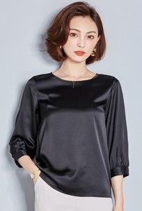 Blouse Shirt Women 2018 Summer Casual Silk Chiffon Loose Tops Blouses Top Shirts Camisa Plus Size Blusas Black XXXL 1