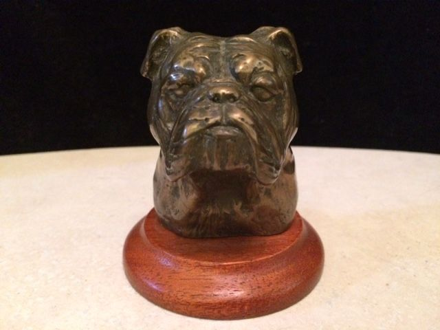 "Wonderfully sculpted and signed, Douglas Gray ""Bulldog"" bronze bust. - $80"