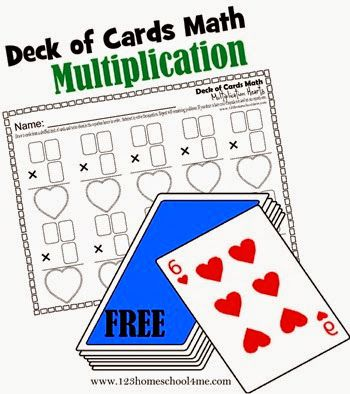 Math Worksheets - These multiplication worksheets are SO COOL!  Kids use a deck of cards to actually make their own problems to solve! So these are NO PREP and the equations change every time making it great math practice for developing math fluency! 2nd grade, 3rd grade, 4th grade, 5th grade, 6th grade (homeschool math)