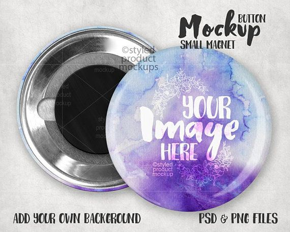 Magnet Button Mockup Template With Front And Back View Etsy In 2021 Mockup Template Small Magnets Mockup