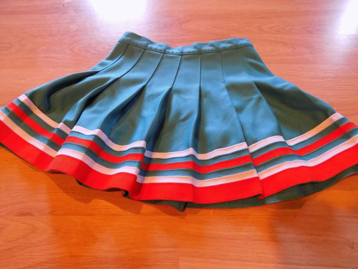 Youth Size Medium Miami Dolphins Varsity Cheer Uniform Skirt Top Cheerleader…