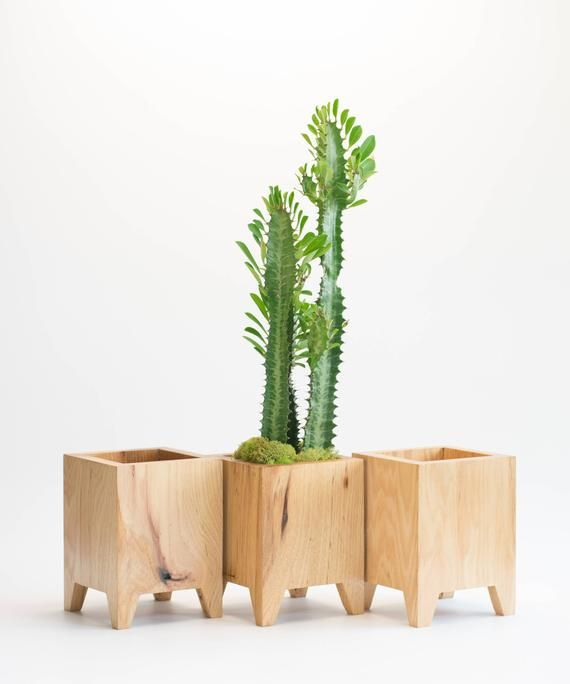 Mid Century Modern Planter Contemporary Planter Modern Wood