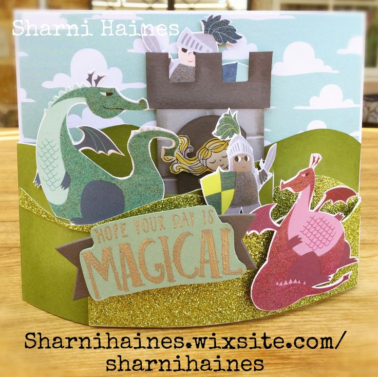 Dive into a fairytale and have some fun with the new Myths & Magic Suite from the 2018 Occasions Catalogue. I just love all the cute characters and the paper is gorgeous! Here I have made a 3D scene with a Bendi Fold Card.