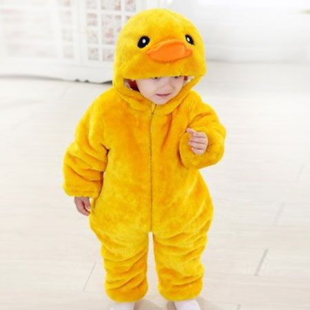 This baby duck onesie costume is super soft and cute and fun to wear. Perfect for dress up and play