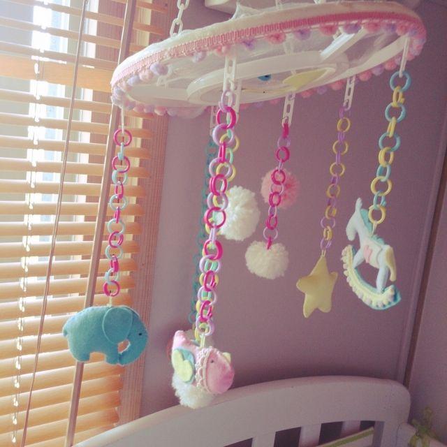 ベッド周り ベビーベッド メリーのインテリア実例 2015 07 12 12 11 53 Roomclip ルームクリップ メリー 手作り ベビー用品 手作り 0歳児 手作りおもちゃ