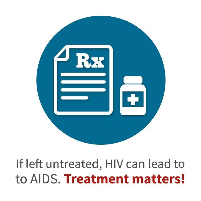 If left untreated, HIV can lead to AIDS. Treatment matters!