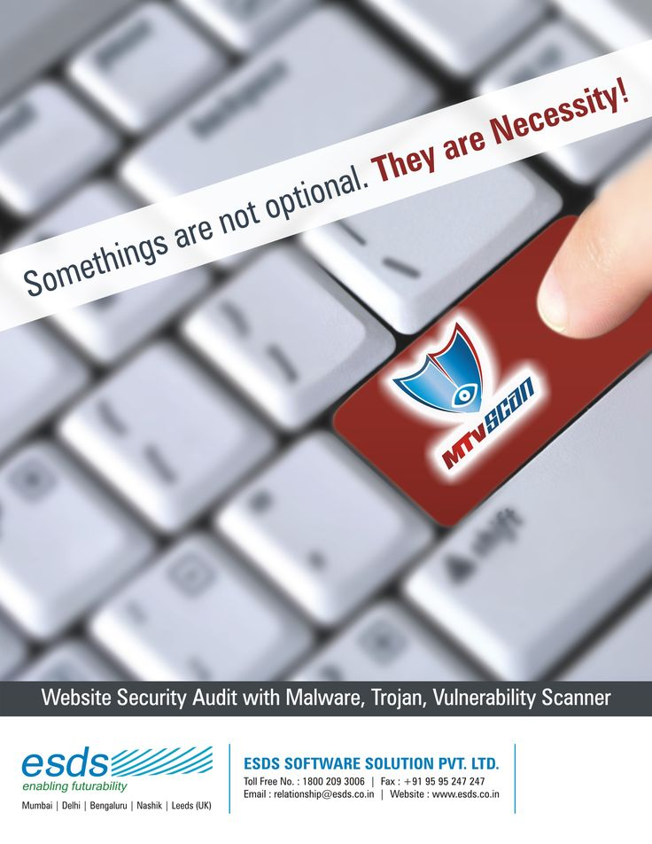 Somethings are not optional. They are Necessity!  #infosec #cybersecurity #malware #websitesecurity #securityscanner