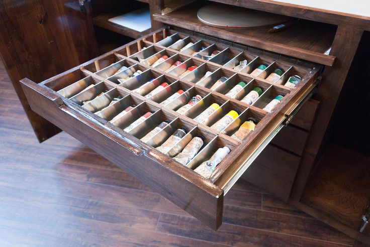 Paint Tube Drawer. A sweet taboret!