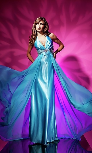 Blue A Line Straps Floor Length Chiffon Prom Dress Find This Pin And More On Purple Wedding