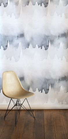 What an unusual wallpaper. The stunning mix of muted greys and creams creates a fantastic focal point in any room.