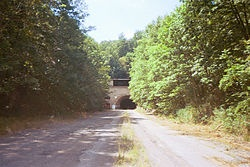 The abandoned Pennsylvania Turnpike tunnels (used in the movie The Road).