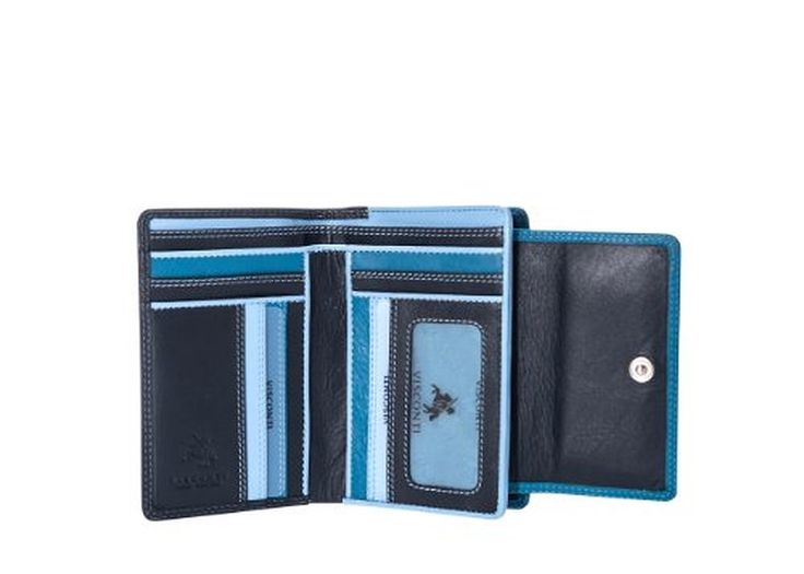Visconti RB98 Multi Colored Soft Leather Ladies / Girls Compact Bifold Wallet